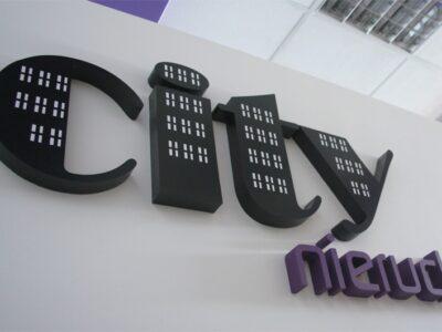 Litery 3D w City Nieruchomości Białystok