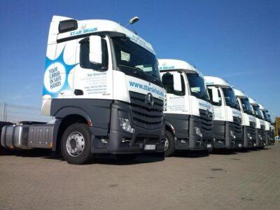 Oklejenie floty ciężarówek StarSirius