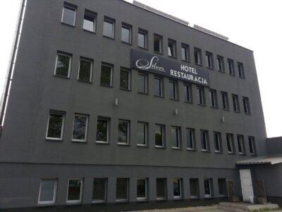 Szyld reklamowy hotelu Silver Białystok